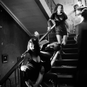 Dance performance on the stairway